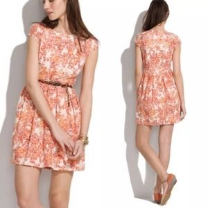 Madewell Painted Lacebloom Dress Sz 0